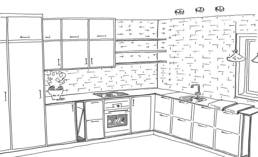Mija presenterer forskjellige kjøkkenforslag for Frida